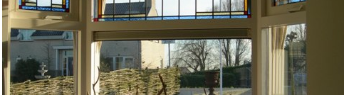 Kozijnen met glas in lood
